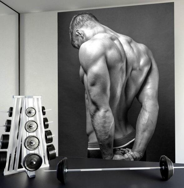 Fototapete XXL Poster Vlies Sport Fitness Delta Muskeln Body