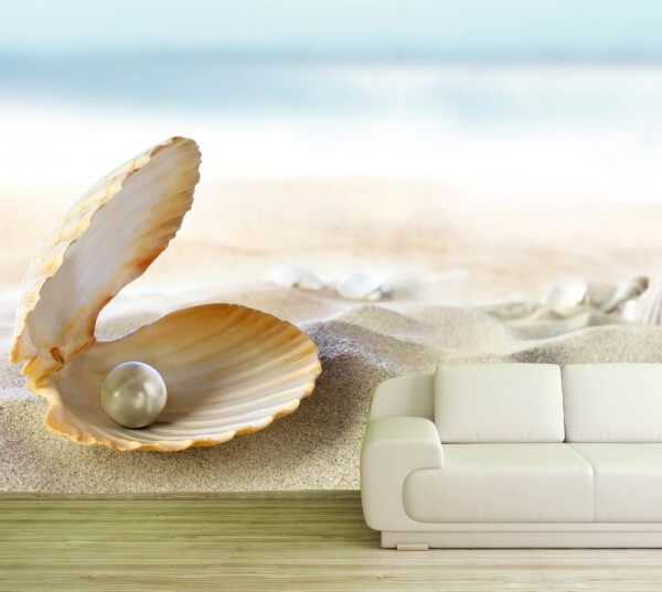 Vlies XXL-Poster Tapete Fototapete Natur Perle am Strand
