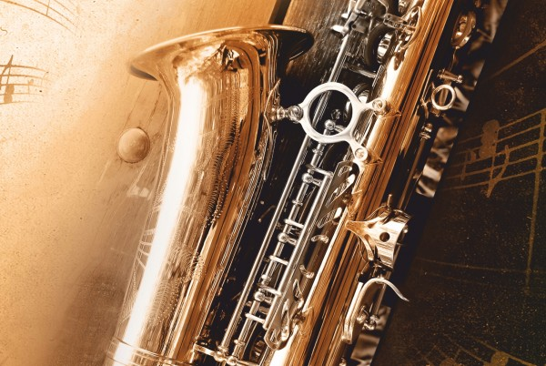 Magnettafel Pinnwand XXL Magnetbild Saxophon Musik