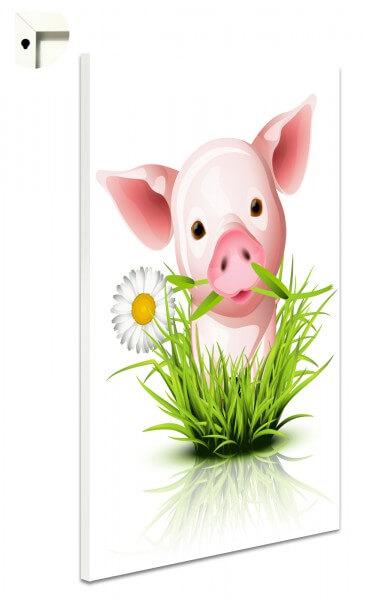 Magnettafel Pinnwand Kinder rosa Schweinchen