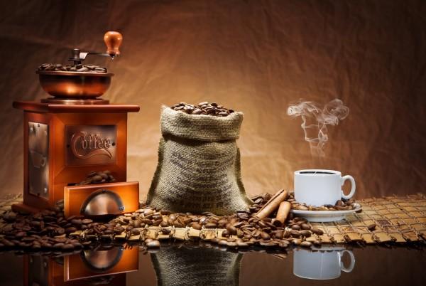 XXL Pinnwand Küchenmagnettafel Kaffeemühle Bohnen Sack