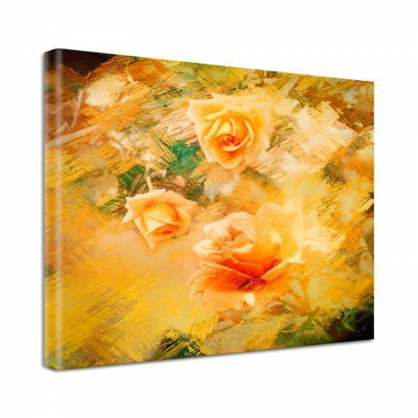 Leinwand Bild Natur & Blumen Rosen in gelb