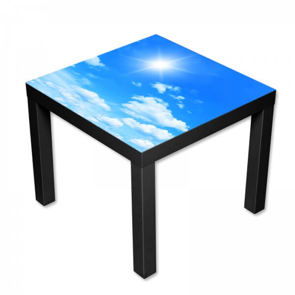 Beistelltisch Couchtisch mit Motiv Natur Blauer Himmel