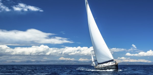 Magnettafel Pinnwand Bild XXL Panorama Segeln Segelyacht Meer