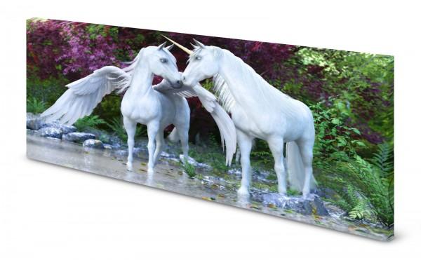 Magnettafel Pinnwand Bild Einhorn Pegasus weiß gekantet