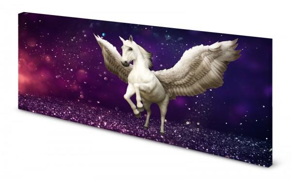 Magnettafel Pinnwand Bild Pegasus Einhorn lila gekantet
