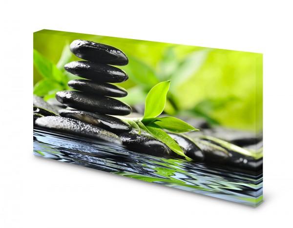 Magnettafel Pinnwand Bild Steinbalance Steine Bambus Zen Natur