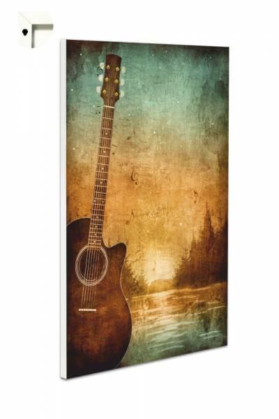 Magnettafel Pinnwand mit Motiv Retro Gitarre Vintage
