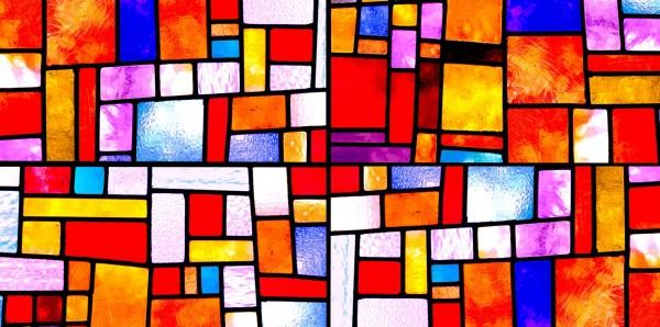 Magnettafel Pinnwand Bild XXL Panorama Buntglas Tiffany