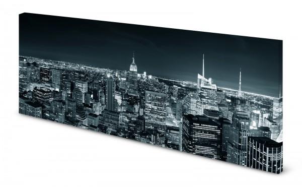 Magnettafel Pinnwand Bild New York Manhattan Skyline gekantet