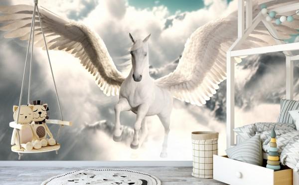 Vliestapete Poster Fototapete Tapete Pegasus im Himmel
