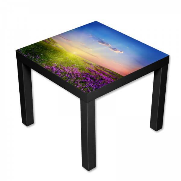 Beistelltisch Couchtisch mit Motiv Natur Lavendeltraum Landschaft in lila
