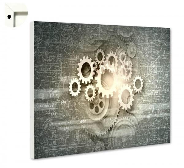 Magnettafel Pinnwand Muster Zahnrad Formeln