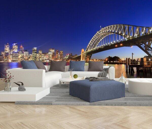 Vlies Tapete XXL Poster Fototapete Sydney Australien Harbour Bridge