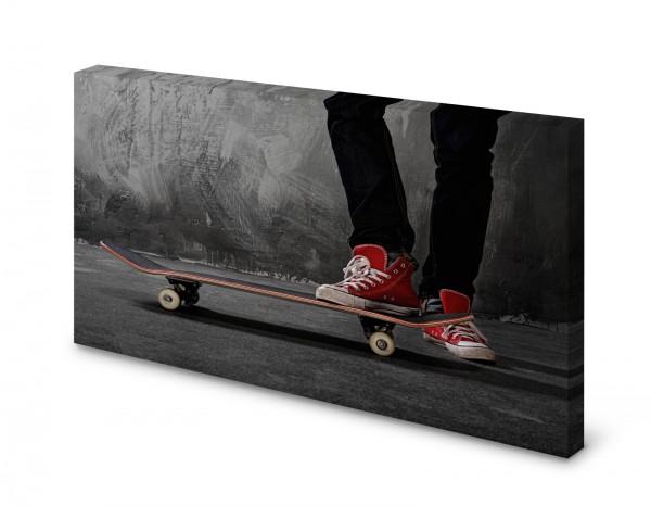 Magnettafel Pinnwand Bild Skateboard Skater Chucks XXL gekantet