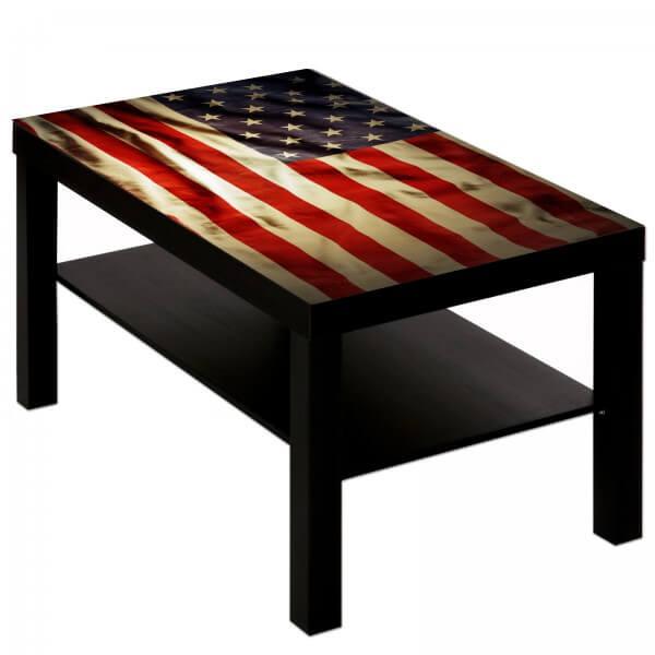 Couchtisch mit Motiv USA Flagge