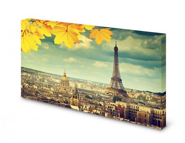 Magnettafel Pinnwand Bild Paris Eiffeturm Notre Dame gekantet