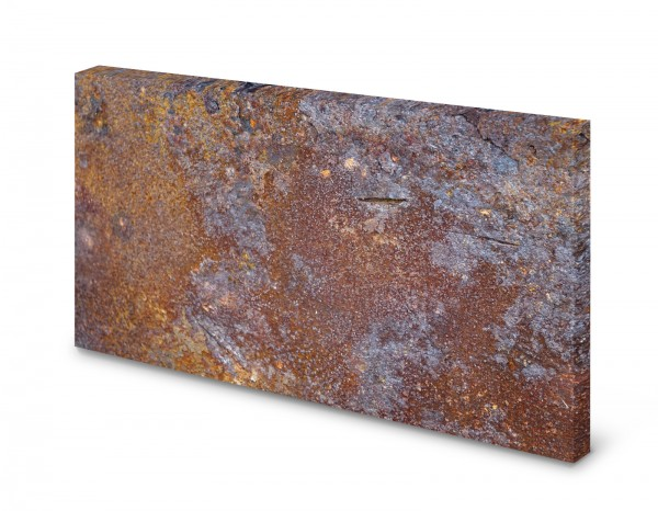 Magnettafel Pinnwand Bild Rost Rostoptik rostig Metall gekantet