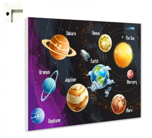 Magnettafel Pinnwand Kinder Planeten im Sonnensystem