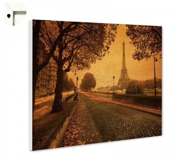 Magnettafel Pinnwand mit Motiv Paris Eiffelturm Retro Vintage