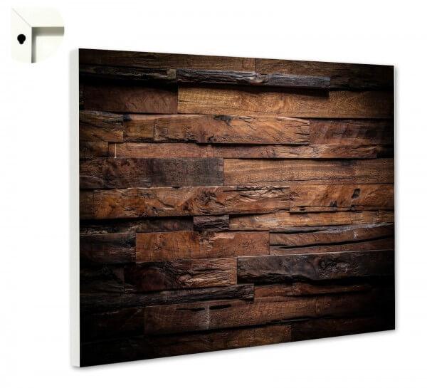 Magnettafel Pinnwand Muster Holz dunkel Holzoptik
