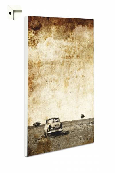 Magnettafel Pinnwand mit Motiv Retro Trabi