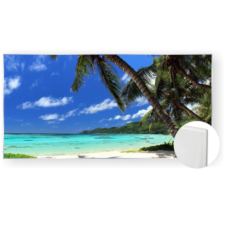Acrylglasbild Glasbild Bild 120x60 Cm 5mm Panorama Palmen Strand