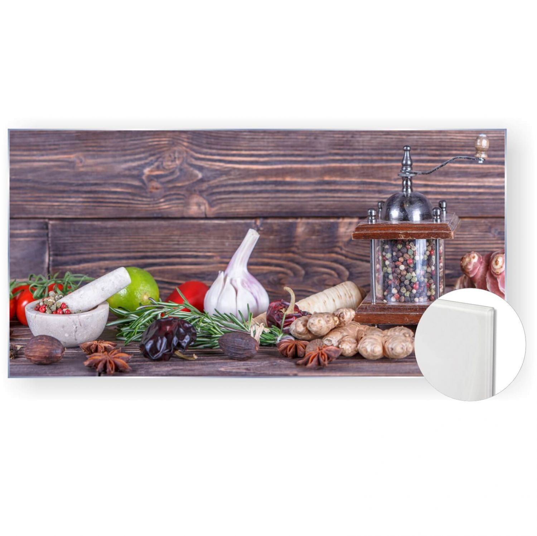 Acrylglasbild Glasbild Bild 120x60 cm 5mm Panorama Küche Pfeffer ...