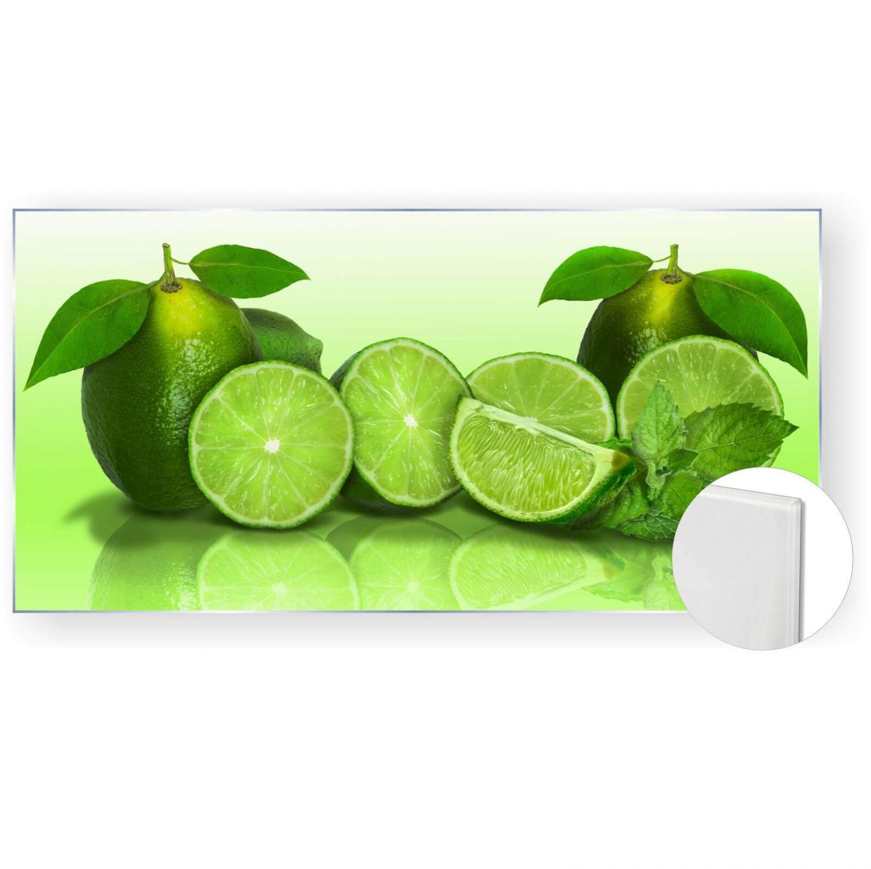 Details zu Acrylglasbild Glasbild Bild 120x60 cm 5mm Panorama Küche  Limetten grün