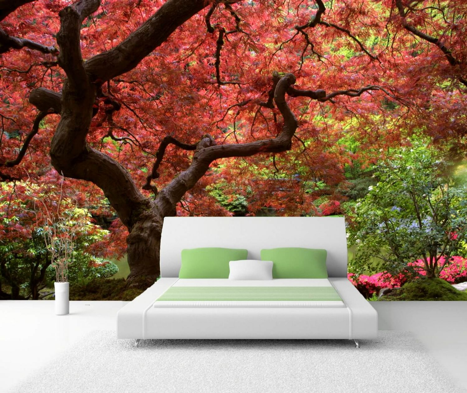 vlies xxl poster tapete fototapete natur japanischer. Black Bedroom Furniture Sets. Home Design Ideas