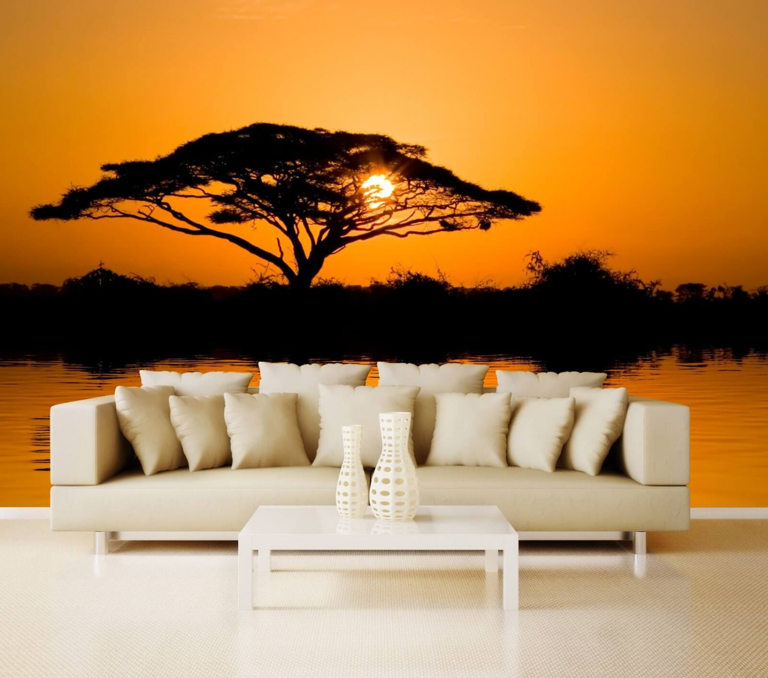 vlies xxl poster tapete fototapete natur afrika. Black Bedroom Furniture Sets. Home Design Ideas