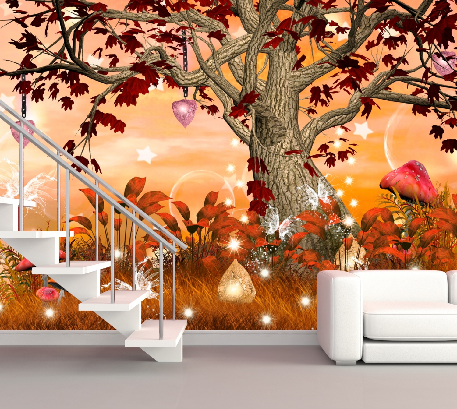 xxl poster fototapete kinderzimmer wandtapete vlies fantasy zauberbaum ebay. Black Bedroom Furniture Sets. Home Design Ideas