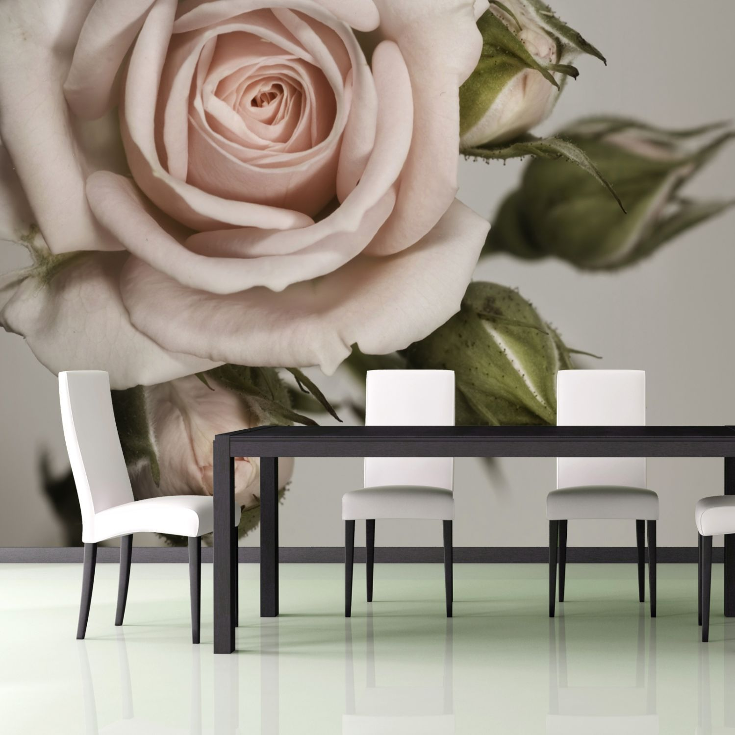 vliestapete xxl poster fototapete natur blumen rosen landhausstil ebay. Black Bedroom Furniture Sets. Home Design Ideas