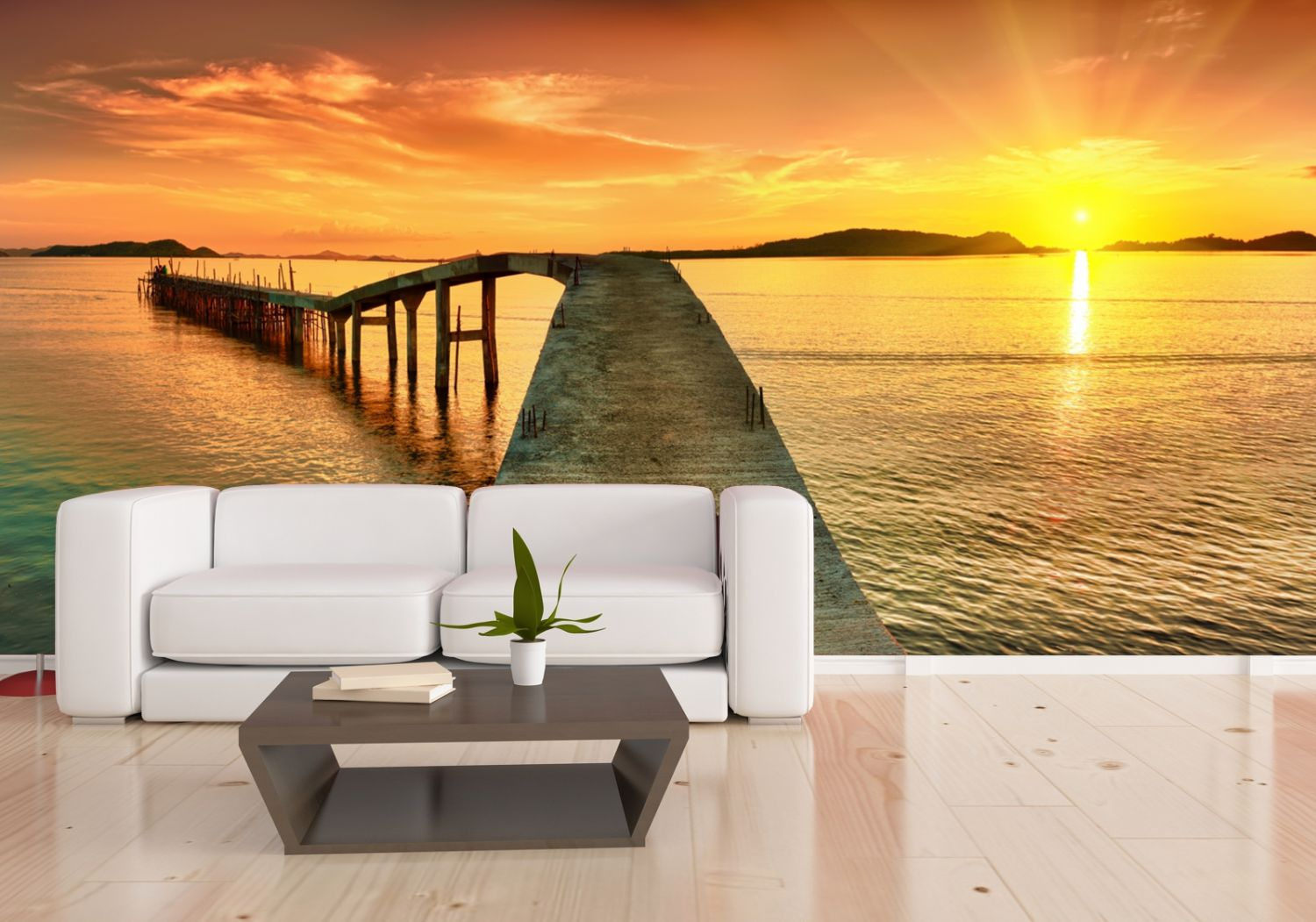 xxl poster fototapete wandtapete vlies natur karibik steg in den sonnenuntergan ebay. Black Bedroom Furniture Sets. Home Design Ideas