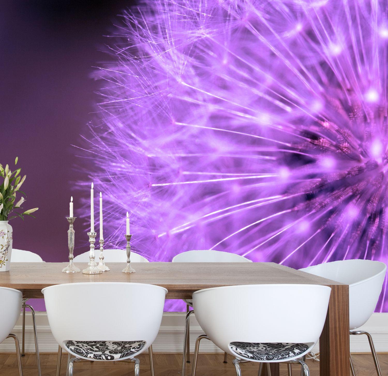 xxl poster fototapete wandtapete vlies natur pusteblume in lila ebay. Black Bedroom Furniture Sets. Home Design Ideas