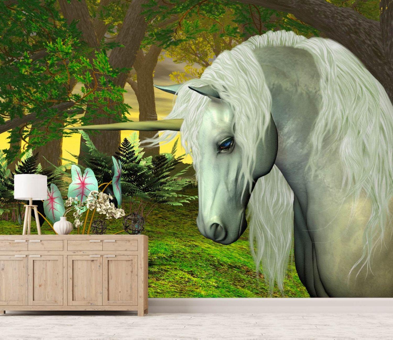 xxl poster fototapete tapete vlies fantasy einhorn m rchen. Black Bedroom Furniture Sets. Home Design Ideas