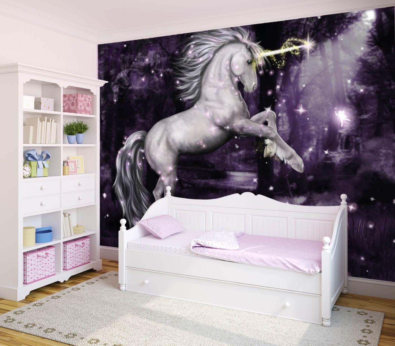 xxl poster fototapete tapete vlies einhorn in lila ebay. Black Bedroom Furniture Sets. Home Design Ideas