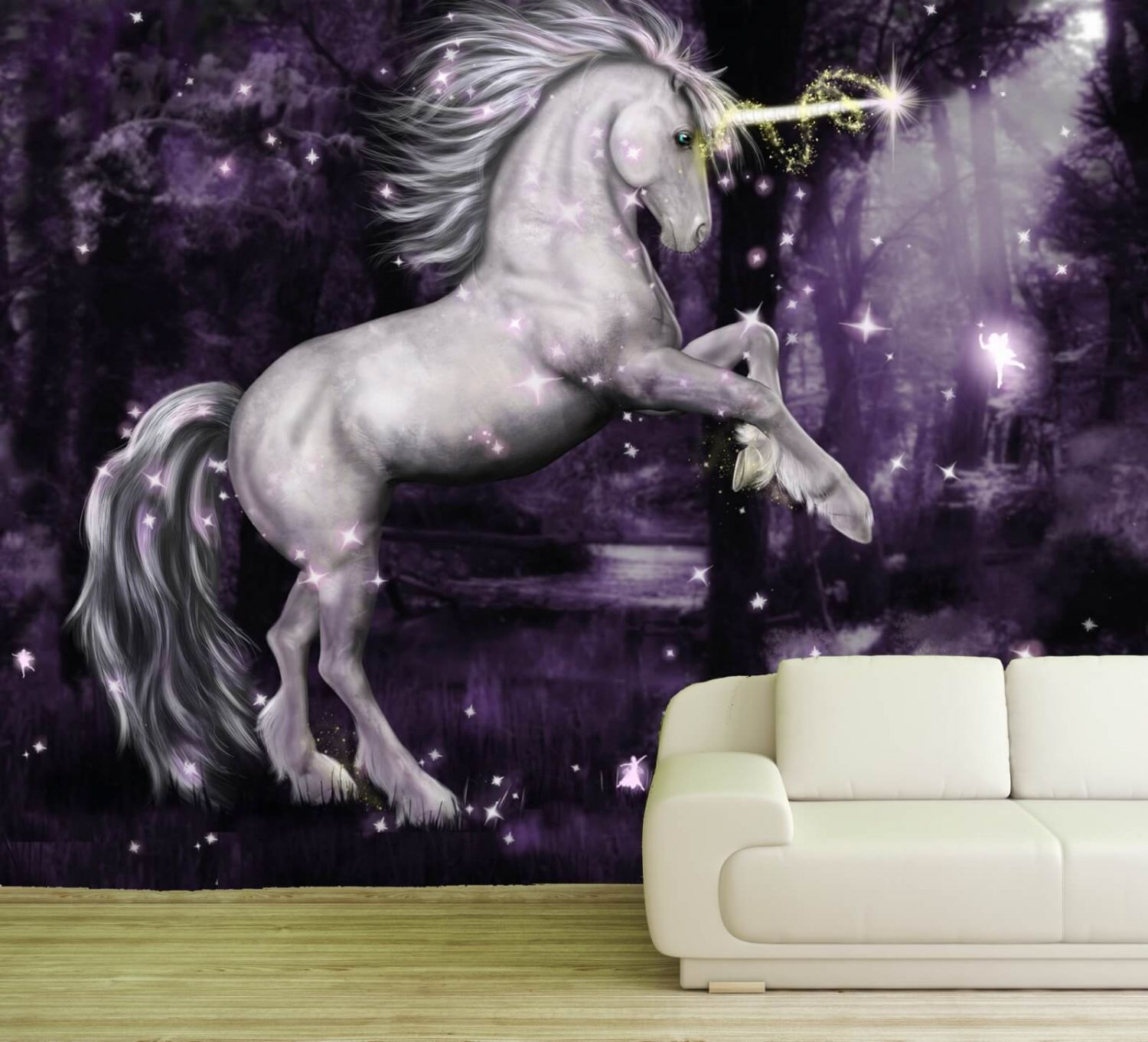 xxl poster fototapete tapete vlies einhorn in lila ebay. Black Bedroom Furniture Sets. Home Design Ideas