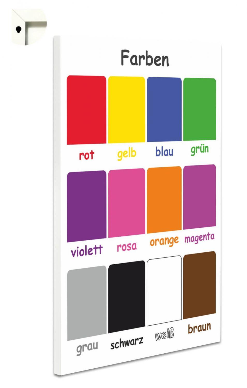 Farben Für Kinder.Details Zu Magnettafel Pinnwand Mit Motiv Kinder Schule Farben Lernen