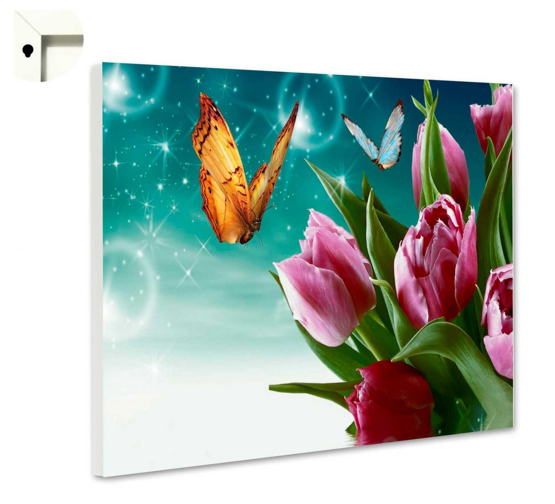 magnettafel pinnwand mit motiv zauber tulpen ebay. Black Bedroom Furniture Sets. Home Design Ideas