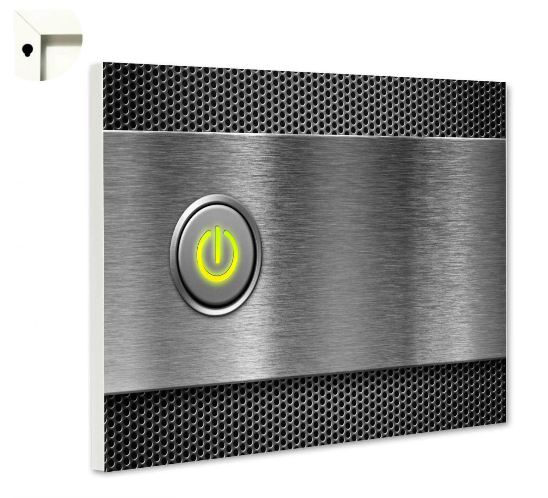 Magnettafel Pinnwand mit Motiv Muster Edelstahl Metall Computer